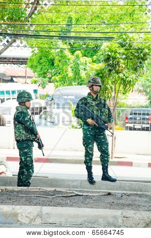 Coup In Thailand 2014.