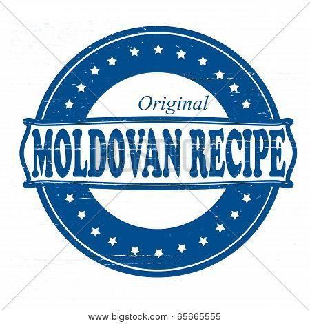 Stamp with text Moldovan recipe inside vector illustration