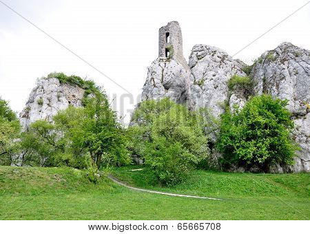 Orphaned ruin Castle, Czech Republic, Europe