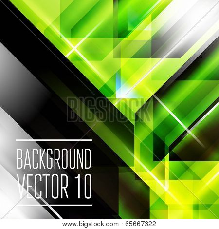 Abstract geometry triangle background with flashes.  Vector Illustration,