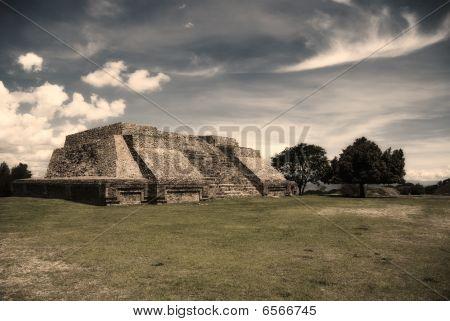 Pyramid at Monte Alban