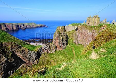 Scenic coastal Scottish castle