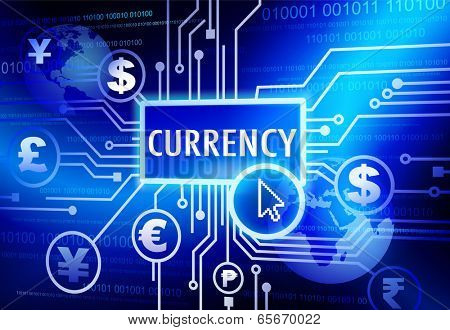 Digitally Generated Image with Currency Concept