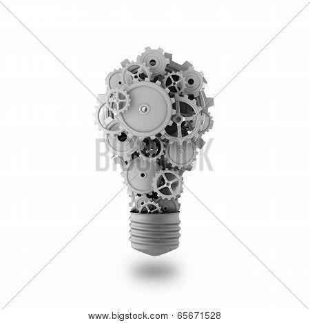 Light Bulb In Form Gears