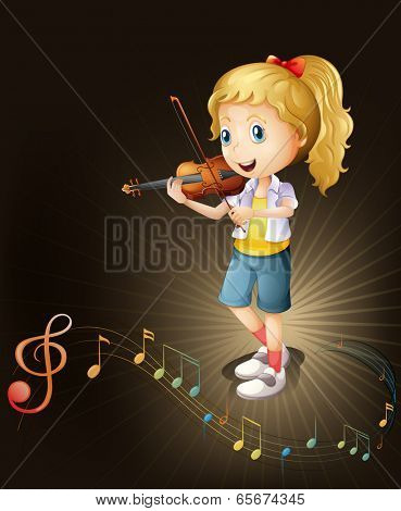 Illustration of a talented violin player