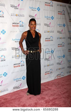 LOS ANGELES - OCT 13:  Kearran Giovanni arrives at the Susan G. Komen 'Designs for the Cure' Gala at Millennium Biltmore Hotel on October 13, 2012 in Los Angeles, CA