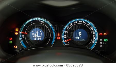 hybrid car dashboard
