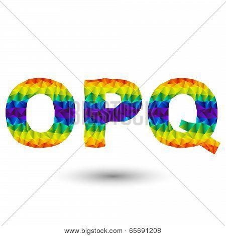 Triangular Letters opq