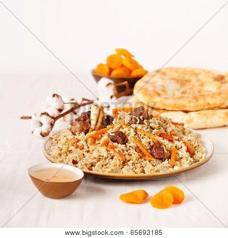 Uzbek National Dish Pilaf