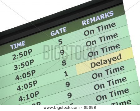 Airport Travel Delay Sign