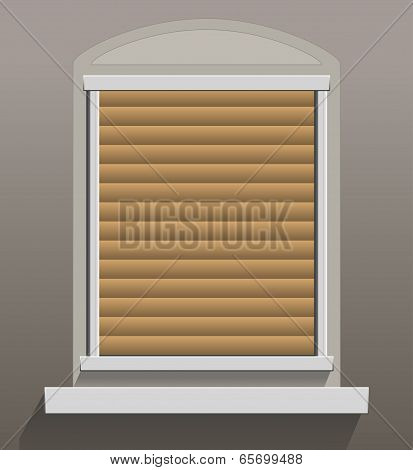 Window Shutters Let Down