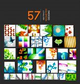 image of geometric shapes  - Mega collection of geometric shape abstract backgrounds - JPG