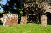 stock photo of avon  - Gravestones in the grounds of Holy Trinity Church Stratford - JPG