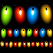 stock photo of christmas lights  - Vector illustration of Christmas lights - JPG