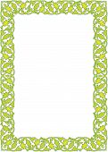 pic of wrought iron  - Bright green and yellow scrollwork border for St - JPG