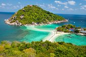 stock photo of yuan  - View point of Nang Yuan island of Koh Tao island Thailand - JPG