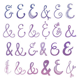 stock photo of ampersand  - Collection of Hand Drawn Ampersands - JPG