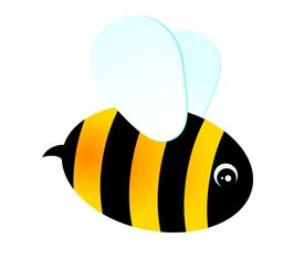 picture of funny animals  - beautiful funny cartoon bee for a design on a white background - JPG