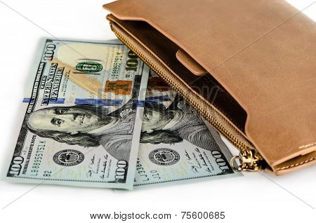 New Dollars And Purse