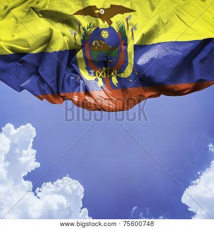 Ecuador waving flag on a beautiful day