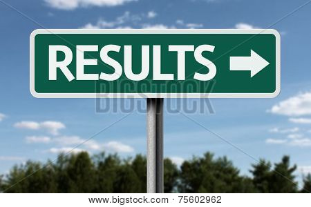 Results creative sign