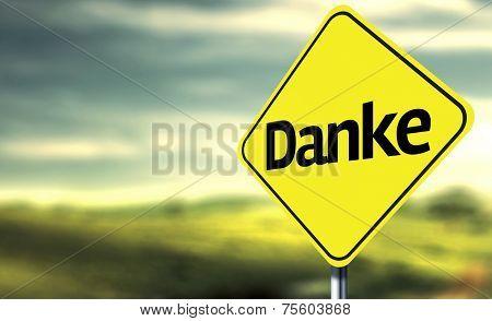 Thank You (German: Danke) creative Sign