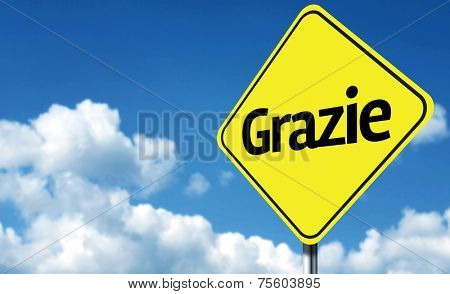 Thank You (Italian: Grazie) creative Sign