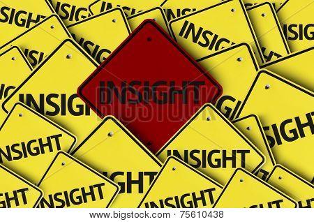 Insight written on multiple road sign