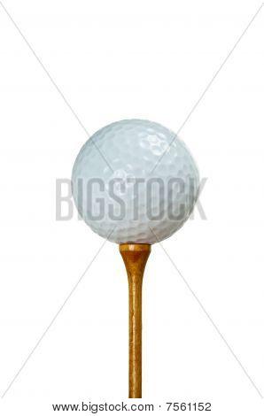 Bola de golfe e Tee madeira