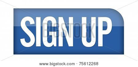 Sign Up icon or button