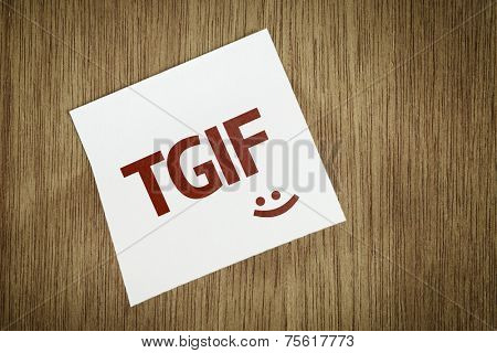 TGIF on Paper Note on