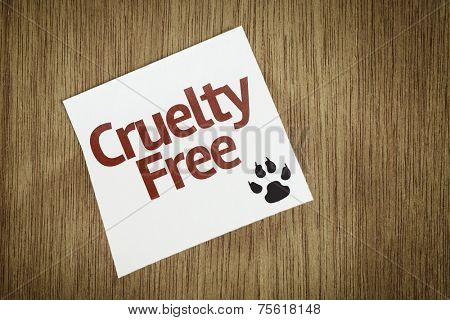Cruelty Free on Paper Note on texture background