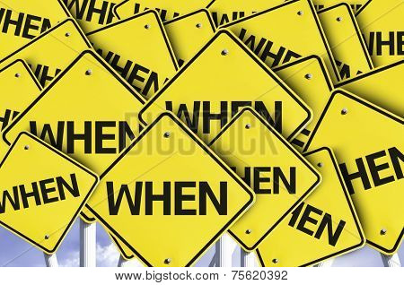 When written on multiple road sign