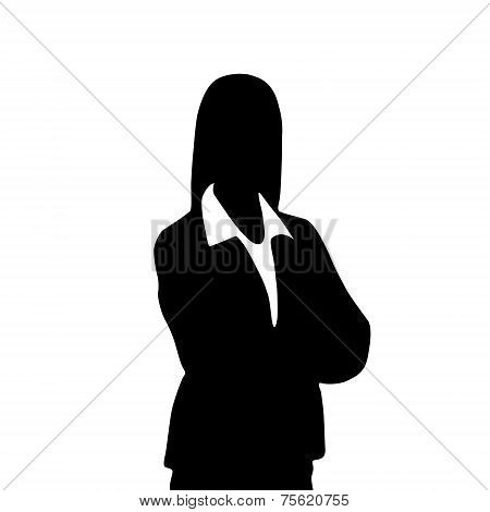 businesswoman portrait silhouette, female icon avatar