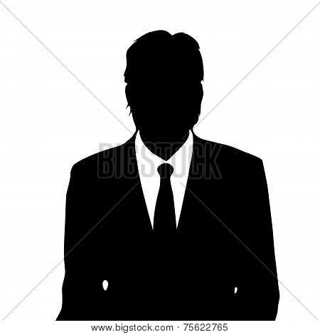 businessman portrait silhouette, male icon