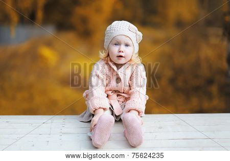 Cute Funny Little Girl Child