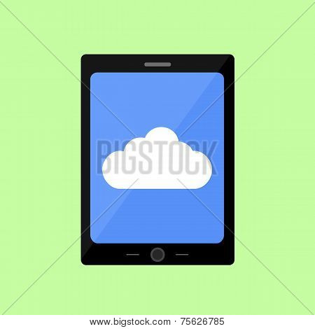 Flat style touch pad with cloud