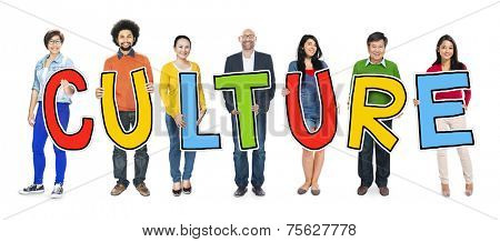 Group of People Standing Holding Culture