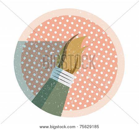 Paintbrush flat style icon