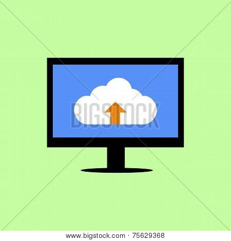 Flat style computer with cloud uploading