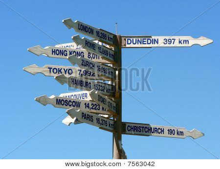 World cities directions from new-zealand