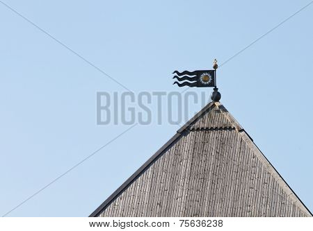 Iron Flag At The Apex Of The Tower Of The Kremlin