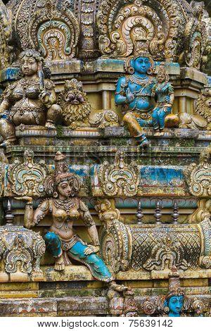 Sculpture Of A Hindu Temple