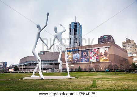 The Dancers Public Sculpture In Denver