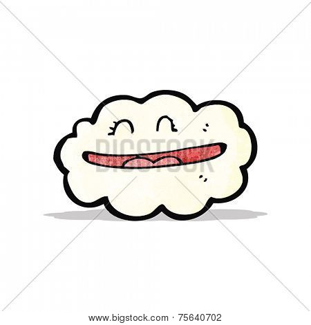 grinning cloud cartoon