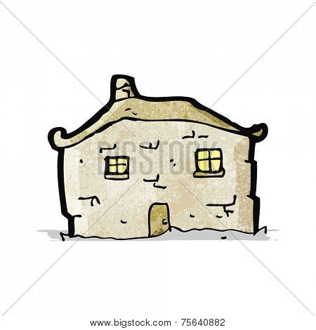 cartoon crumbling cottage