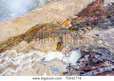 Hot Mud Pot In Lassen National Park