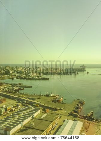 Montevideo Commercial Port Aerial View