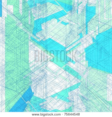 Mosaic Wire Net Structure Vector