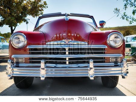 Red 1949 Plymouth Classic Car
